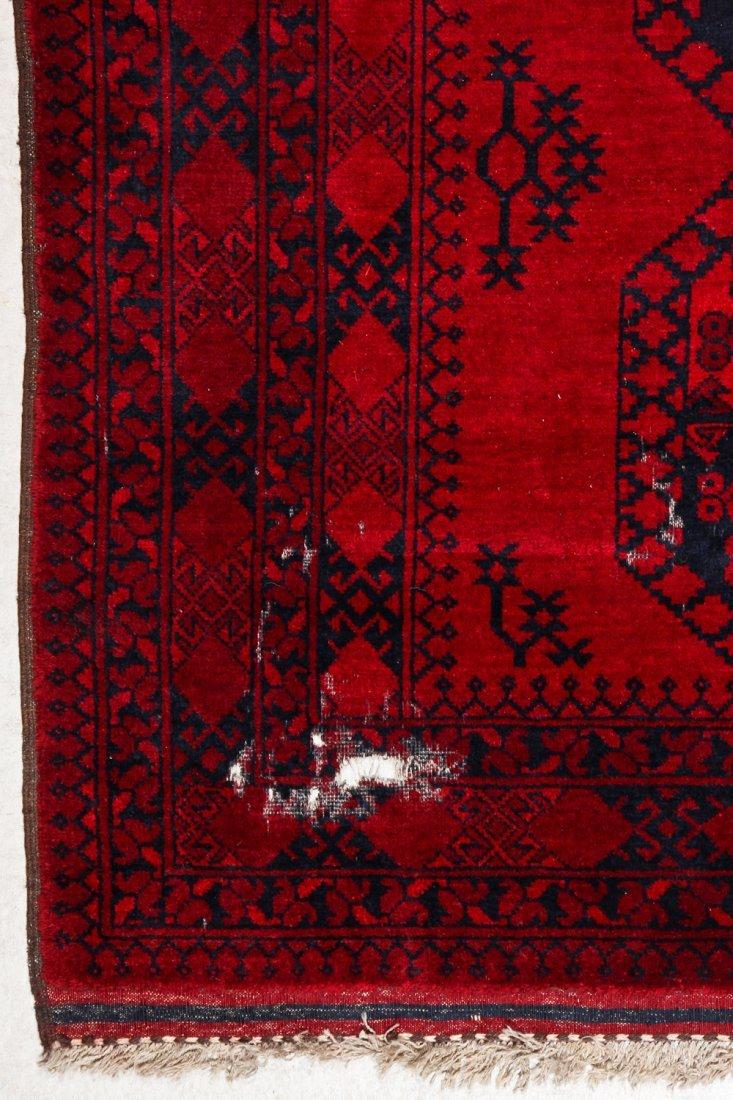 2 Semi-Antique Afghan Main Rugs - 7
