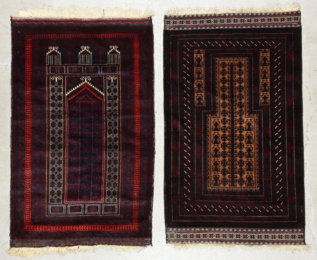 2 Vintage Beluch Prayer Rugs