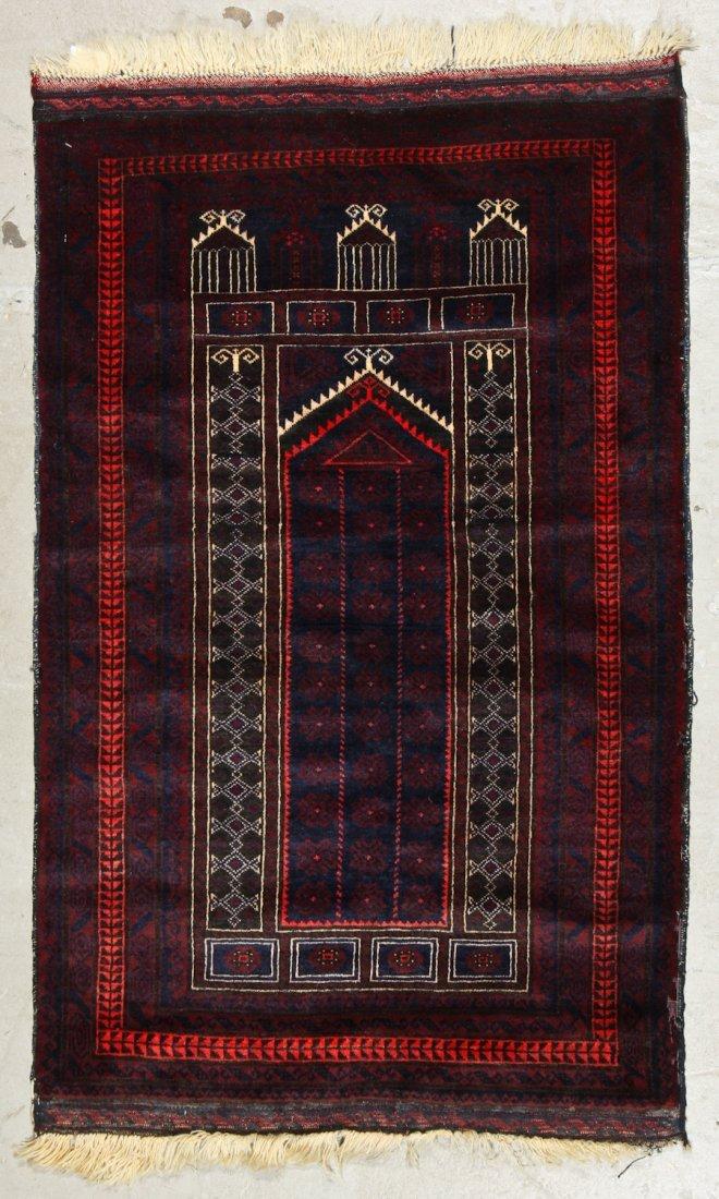 2 Vintage Beluch Prayer Rugs - 2