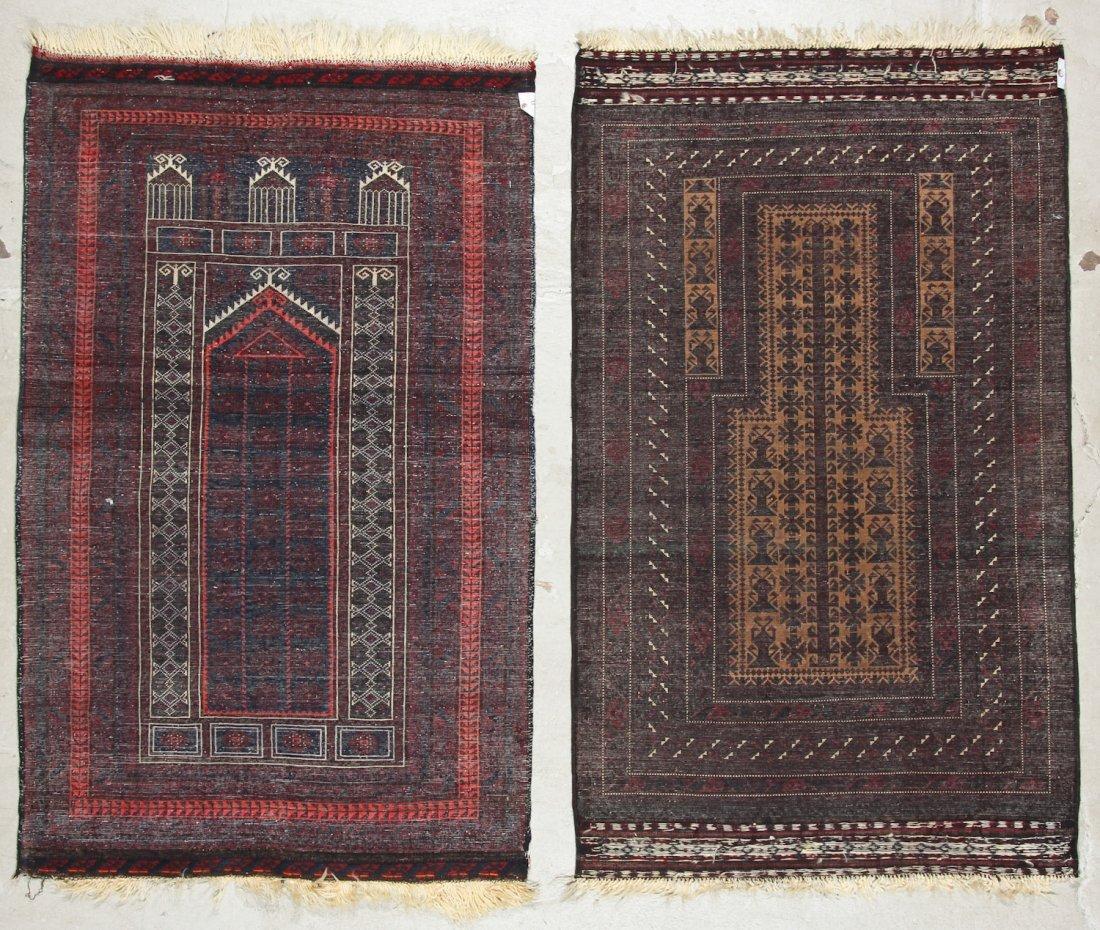 2 Vintage Beluch Prayer Rugs - 9