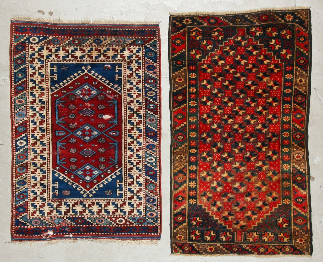 2 Vintage Turkish Village Rugs