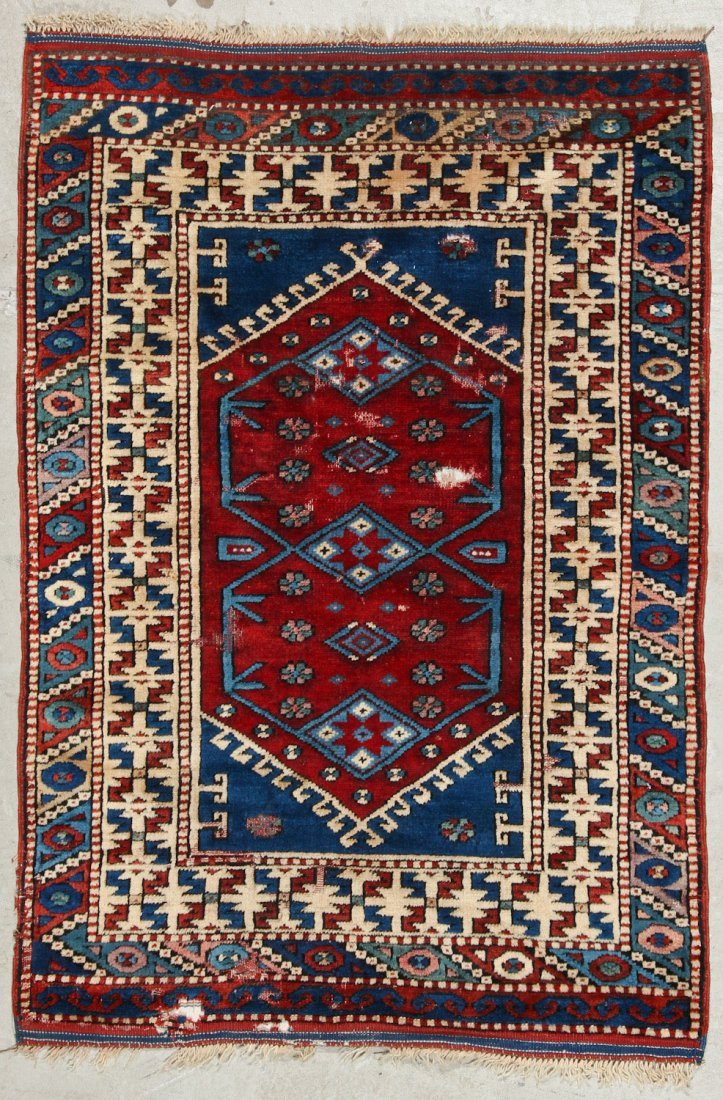 2 Vintage Turkish Village Rugs - 2