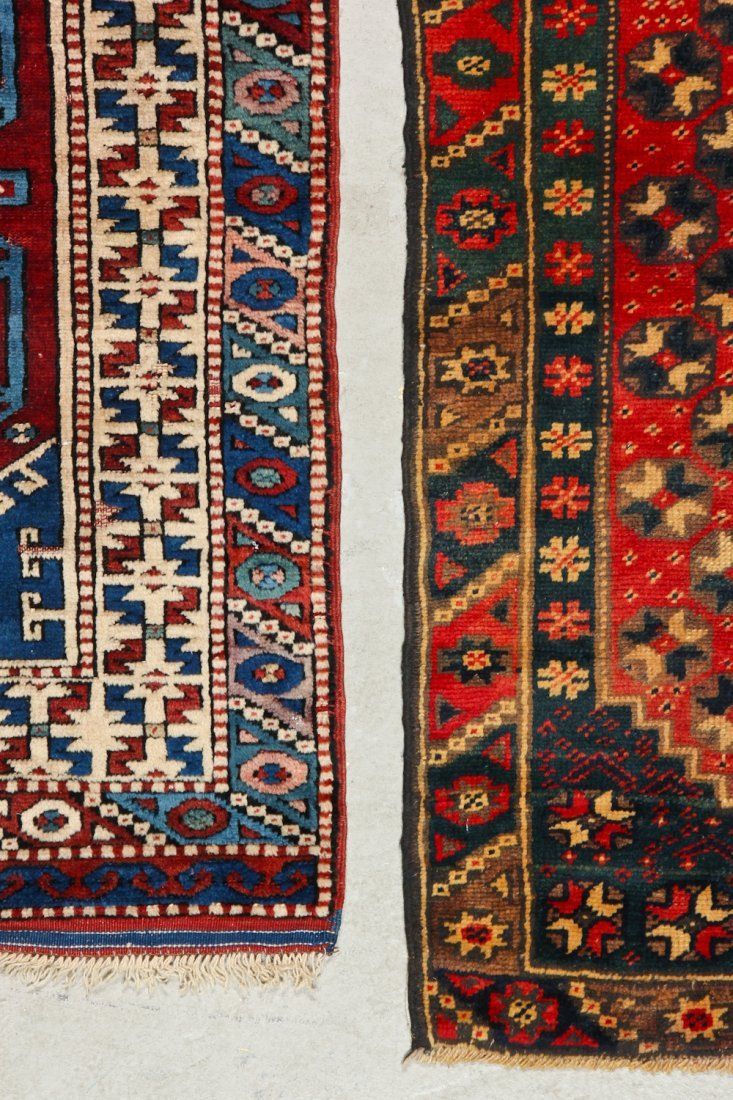 2 Vintage Turkish Village Rugs - 4