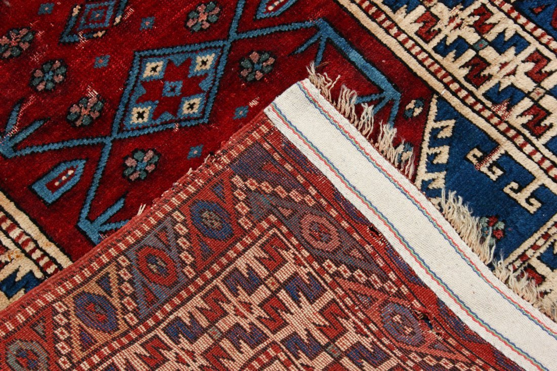 2 Vintage Turkish Village Rugs - 5