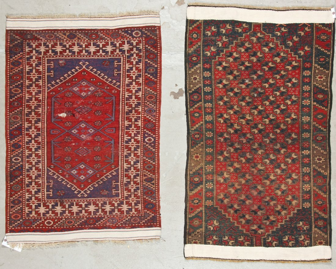 2 Vintage Turkish Village Rugs - 9