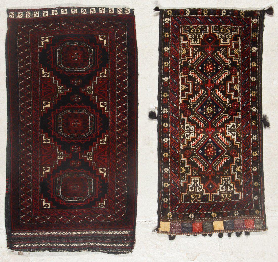 2 Old Afghan Beluch Rugs