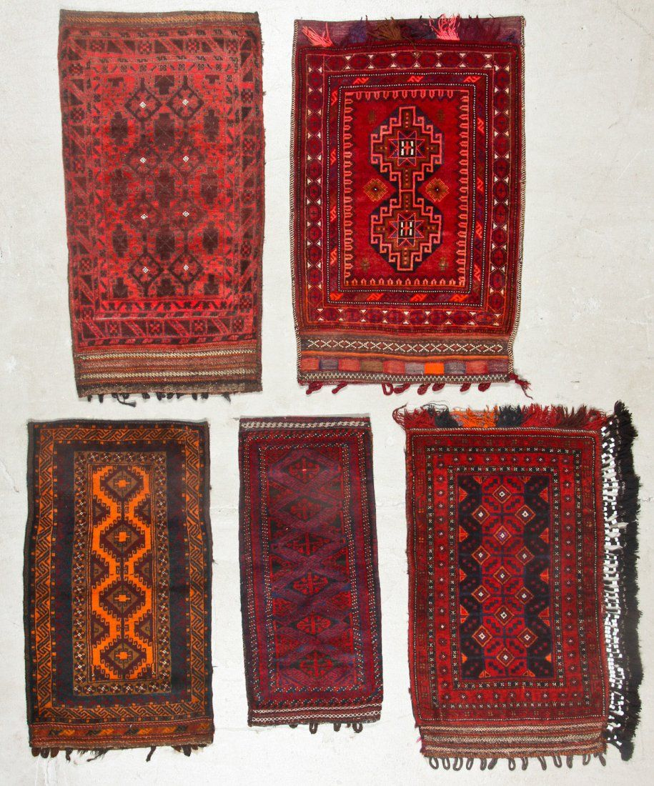 5 Vintage Afghan Small Rugs/Trappings