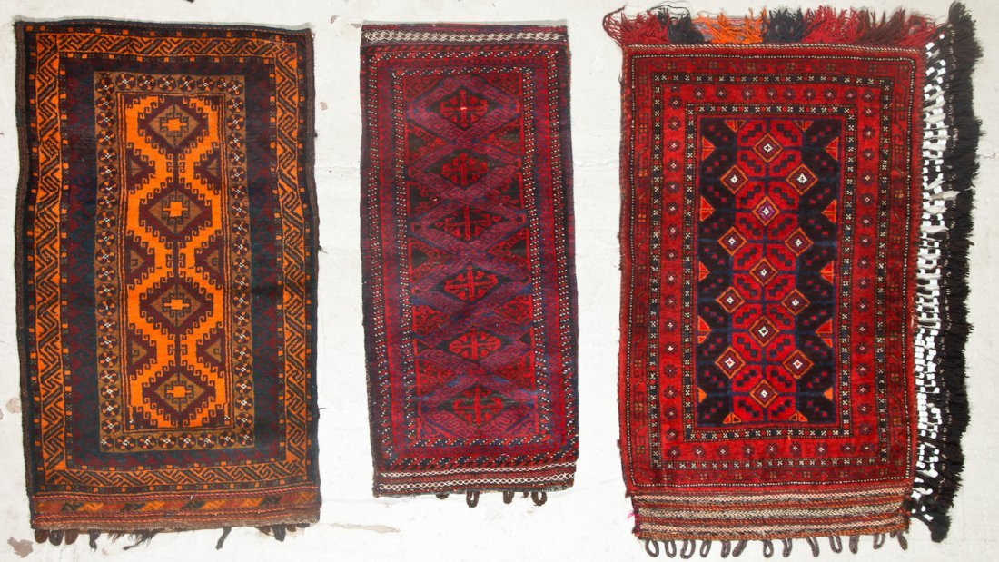 5 Vintage Afghan Small Rugs/Trappings - 2