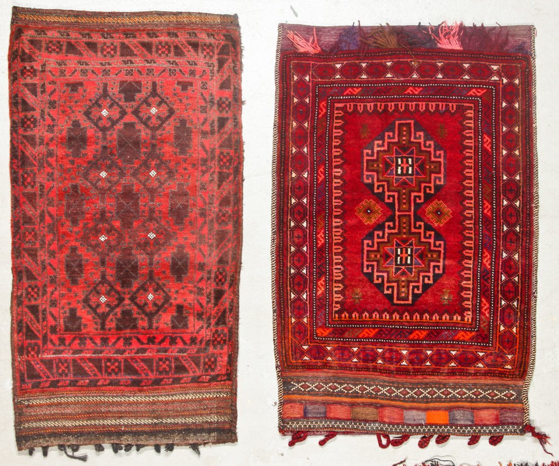 5 Vintage Afghan Small Rugs/Trappings - 3