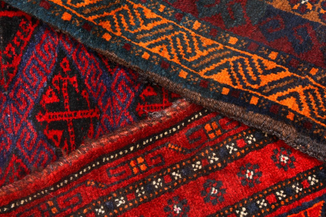 5 Vintage Afghan Small Rugs/Trappings - 5