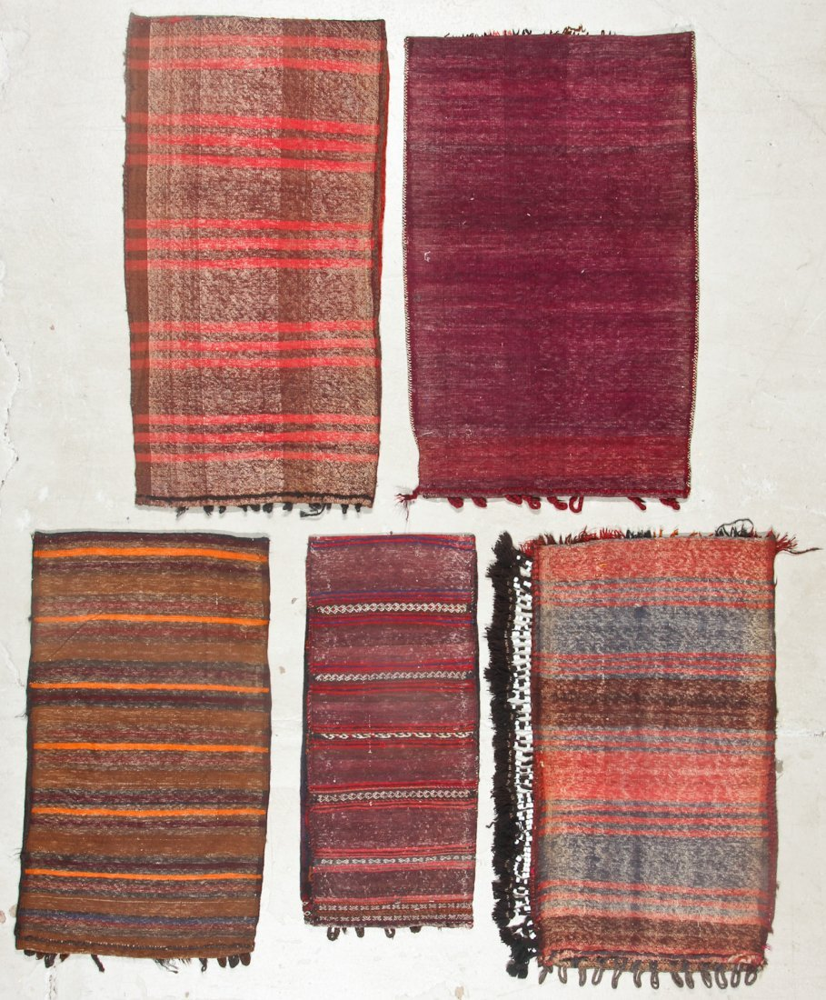 5 Vintage Afghan Small Rugs/Trappings - 6