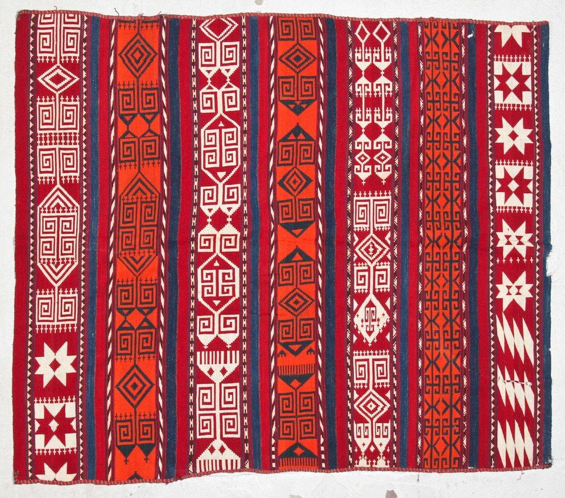 2 Semi-Antique Central Asian Kilims - 2
