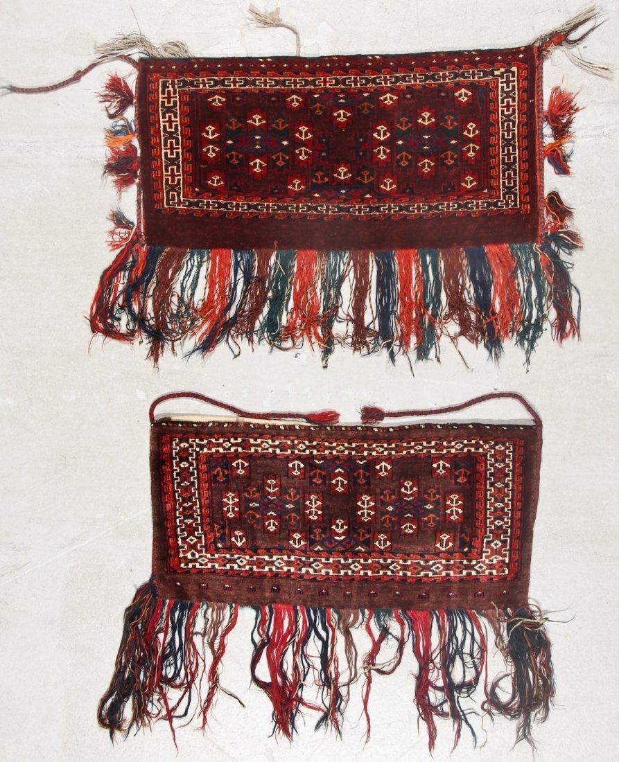2 Semi-Antique Turkmen Yomud Torba/Trappings