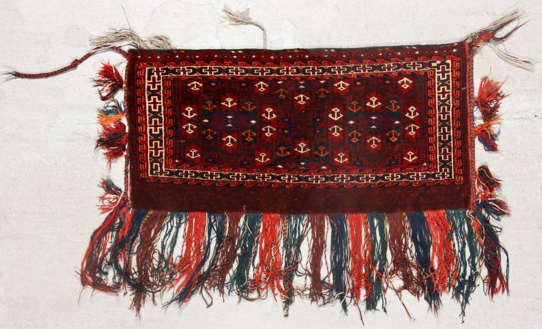 2 Semi-Antique Turkmen Yomud Torba/Trappings - 2