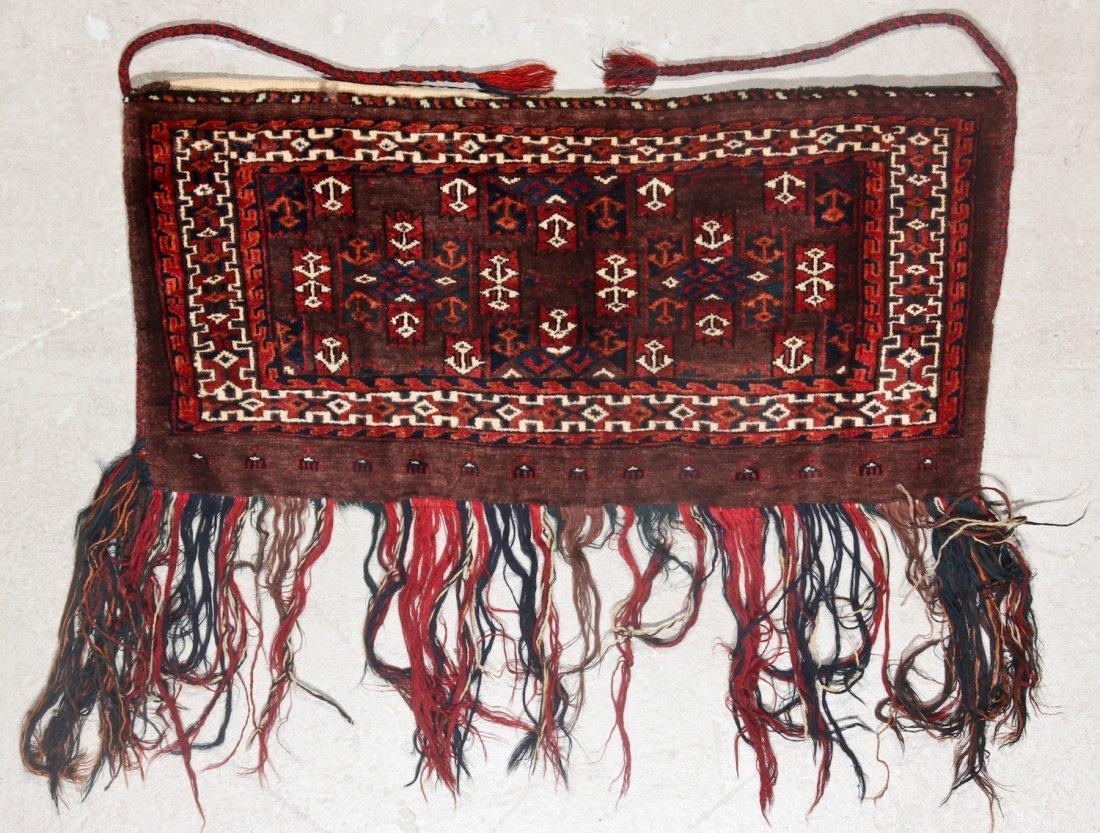 2 Semi-Antique Turkmen Yomud Torba/Trappings - 3