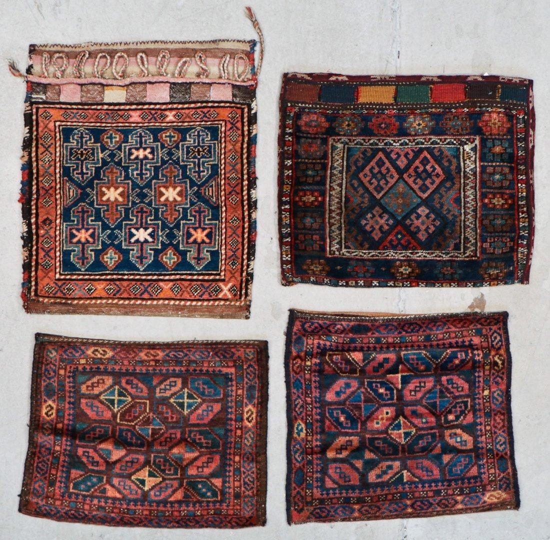 4 Semi-Antique West Persian Bag Faces