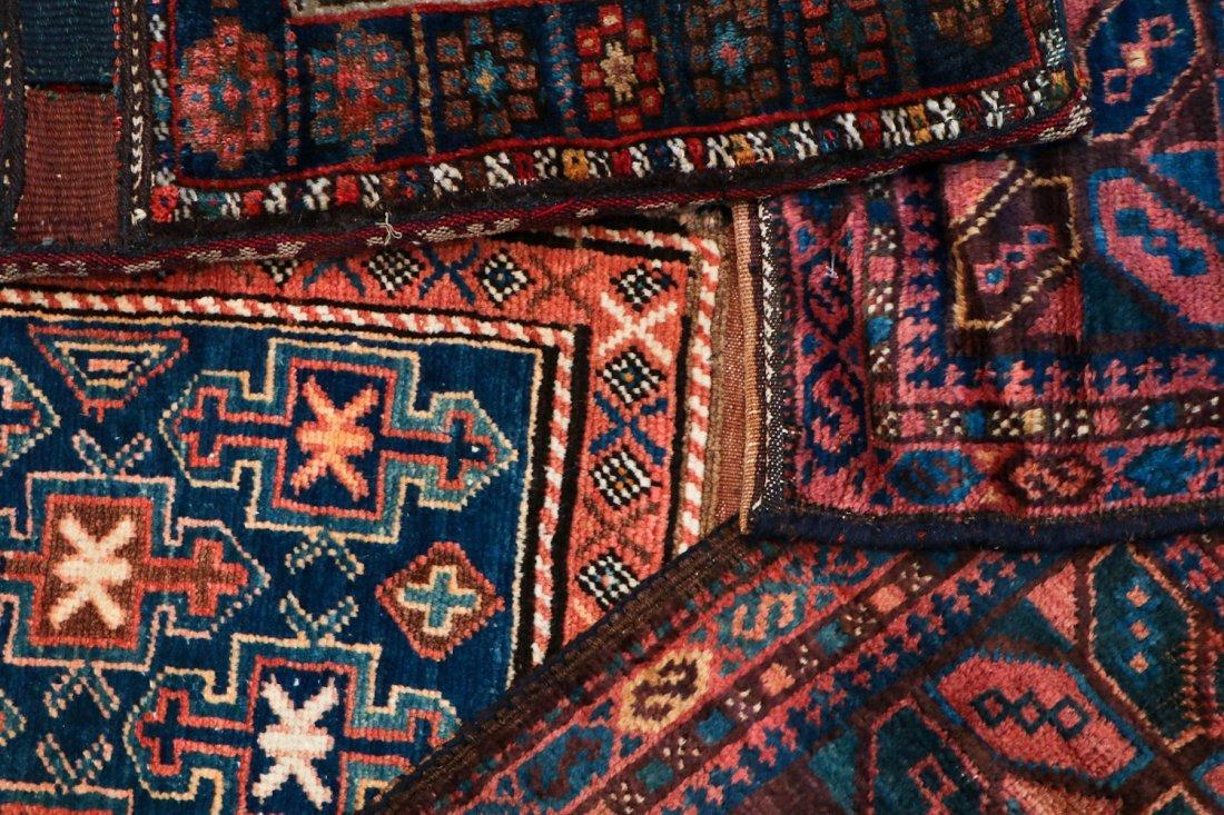 4 Semi-Antique West Persian Bag Faces - 5