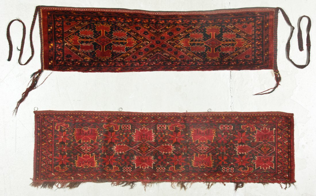 2 Old Turkmen Beshir Trappings