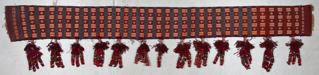 Old Central Asian Kilim Hanging
