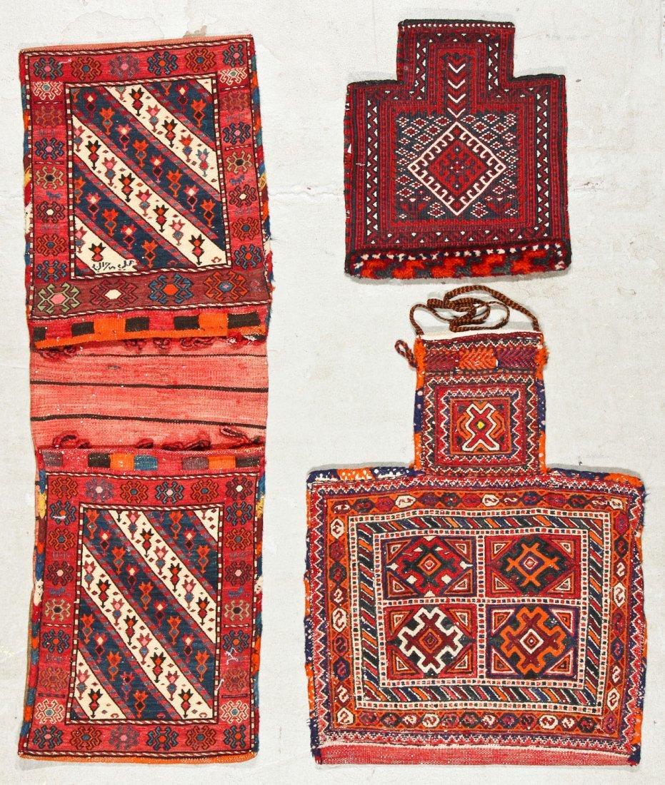 3 Semi-Antique West Persian Sumak Trappings