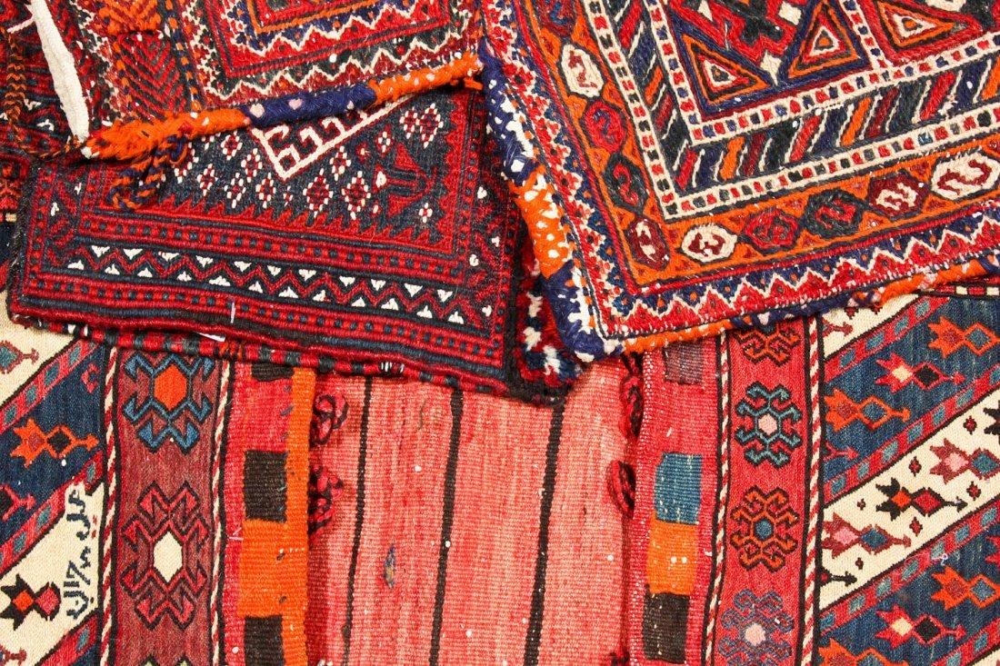 3 Semi-Antique West Persian Sumak Trappings - 6