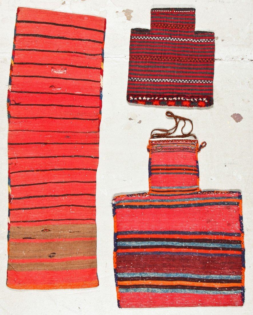 3 Semi-Antique West Persian Sumak Trappings - 7
