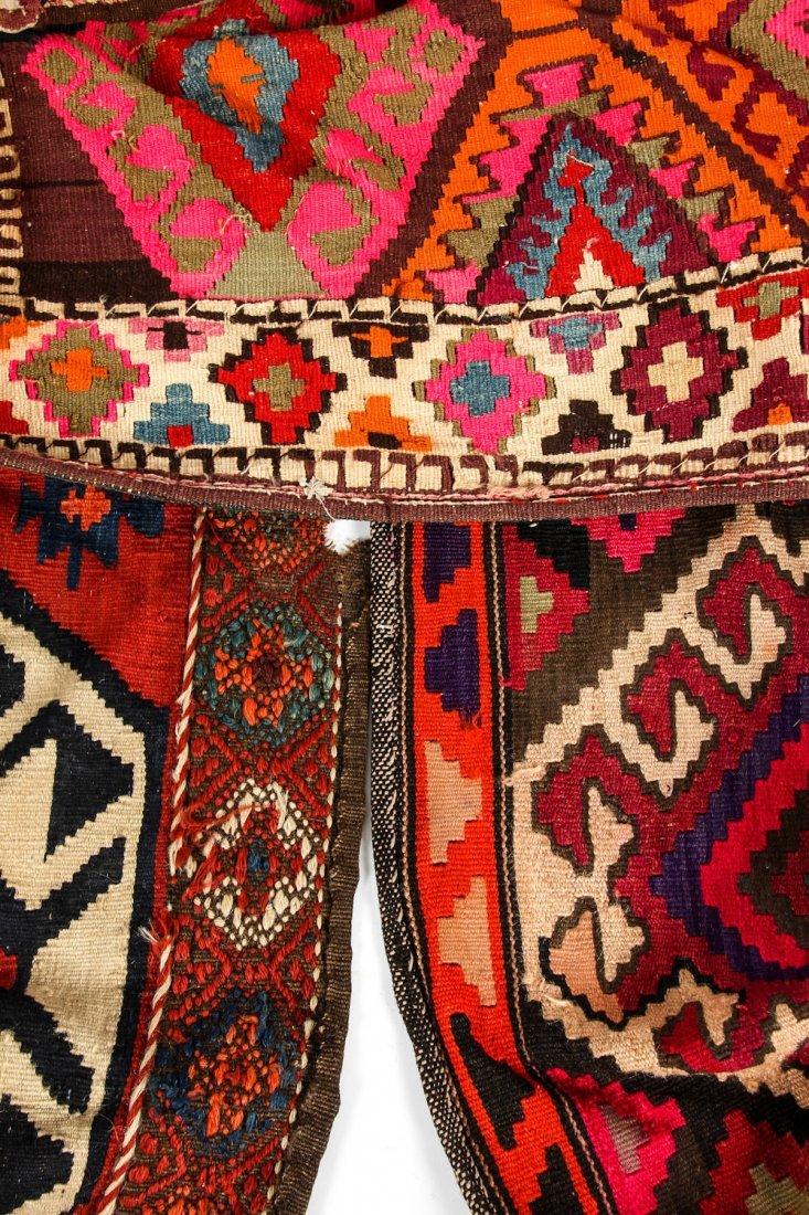 3 Semi-Antique West Persian Kilim Cradles (Besik) - 10