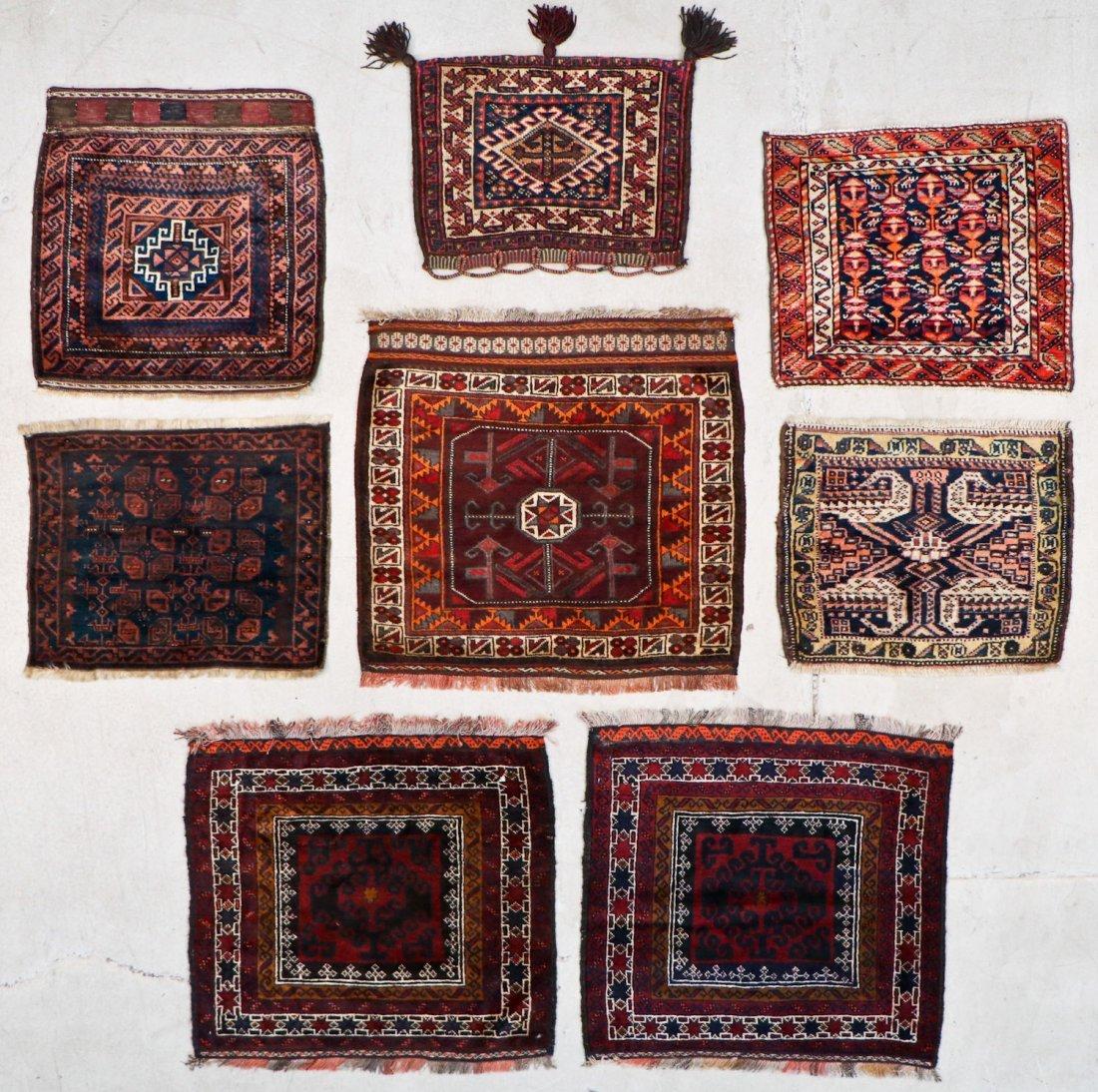 8 Semi Antique Persian/Afghan Bagfaces
