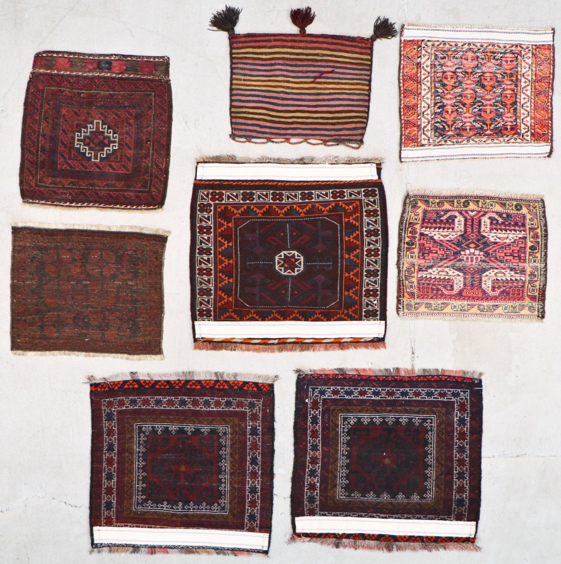 8 Semi Antique Persian/Afghan Bagfaces - 8