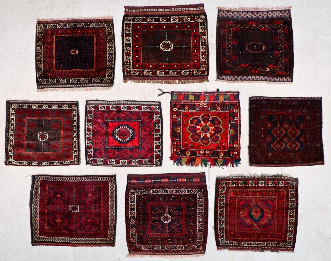 10 Semi-Antique/Vintage Afghan Bagfaces