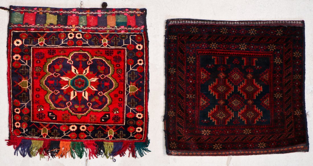 10 Semi-Antique/Vintage Afghan Bagfaces - 3