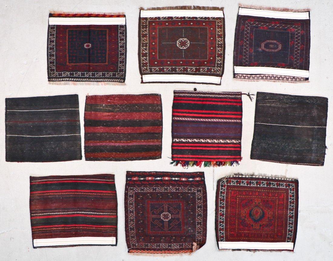 10 Semi-Antique/Vintage Afghan Bagfaces - 8