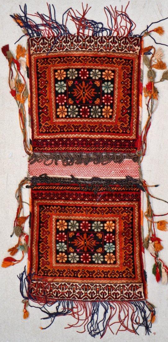 3 Semi-Antique Central Asian Saddlebags - 2