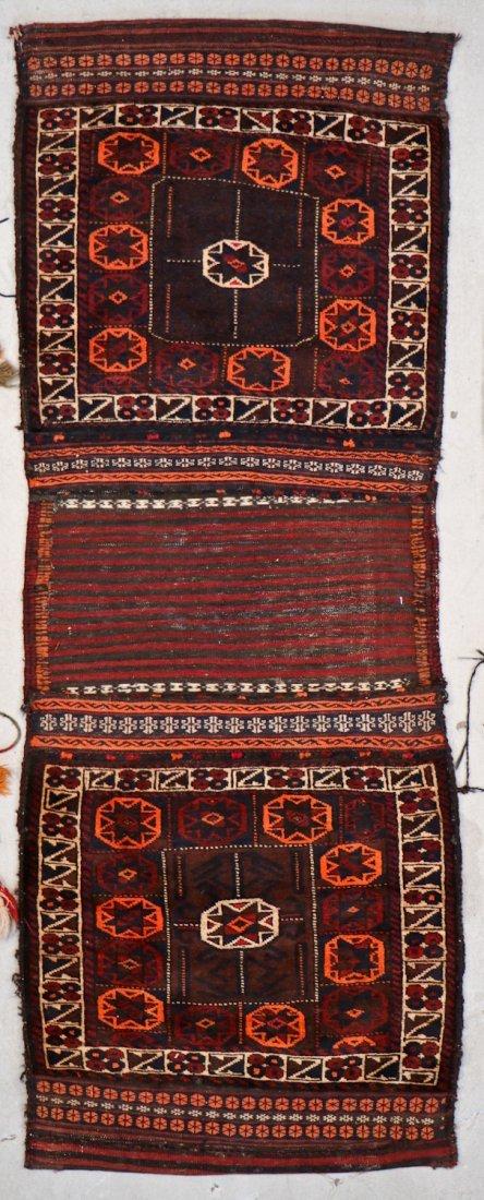 3 Semi-Antique Central Asian Saddlebags - 3