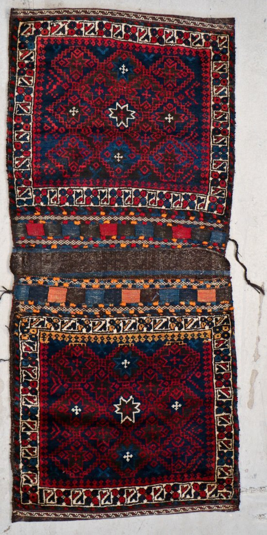 3 Semi-Antique Central Asian Saddlebags - 4