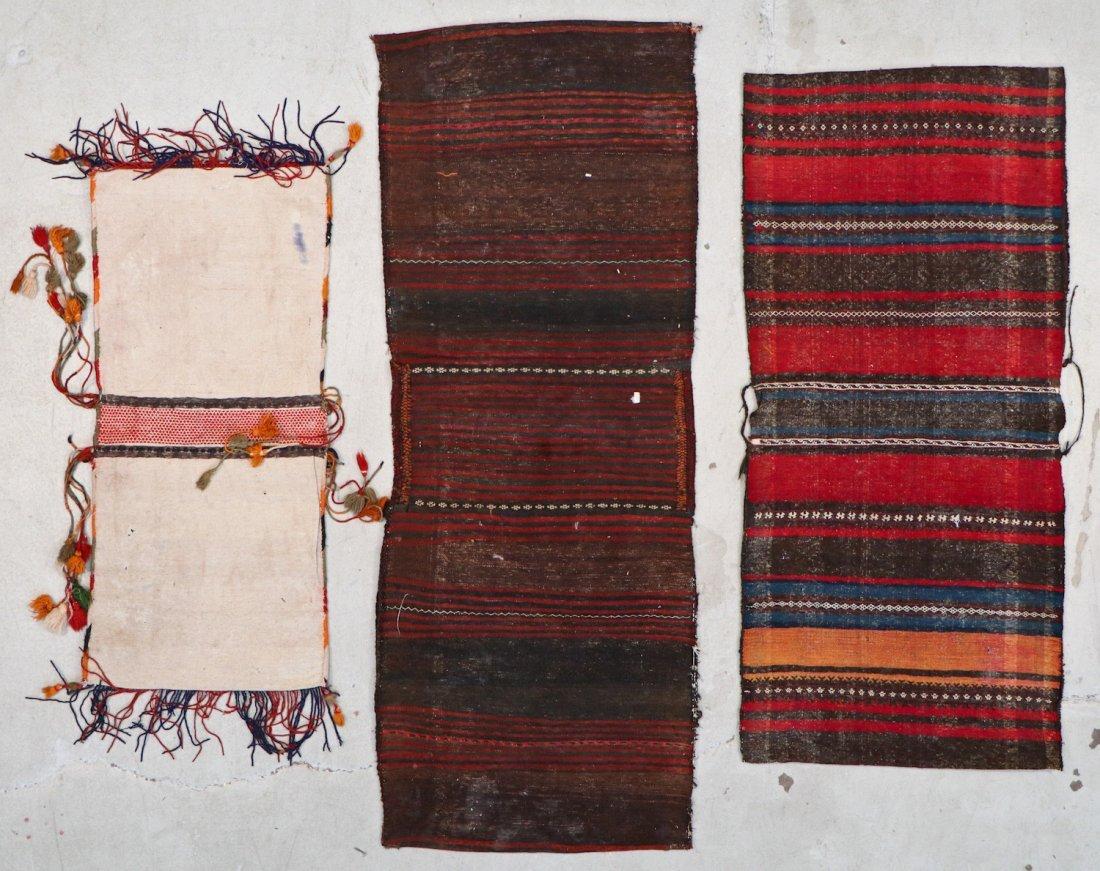 3 Semi-Antique Central Asian Saddlebags - 6