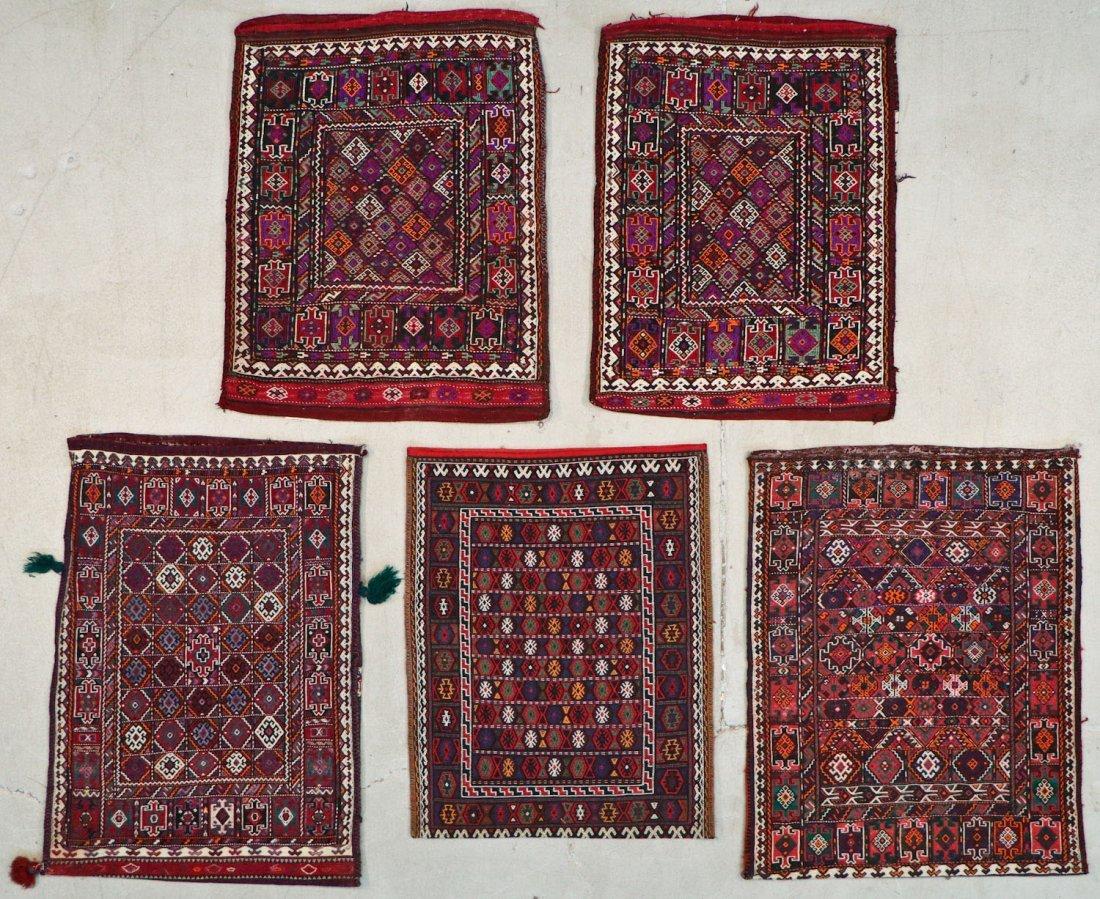 5 Semi-Antique & Vintage Persian Sumak Rugs