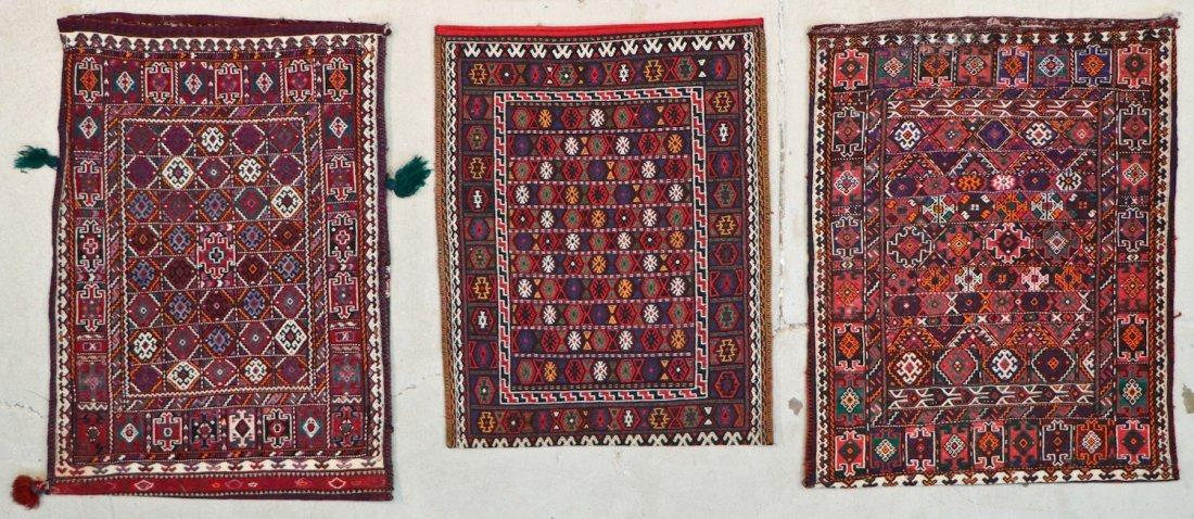 5 Semi-Antique & Vintage Persian Sumak Rugs - 3