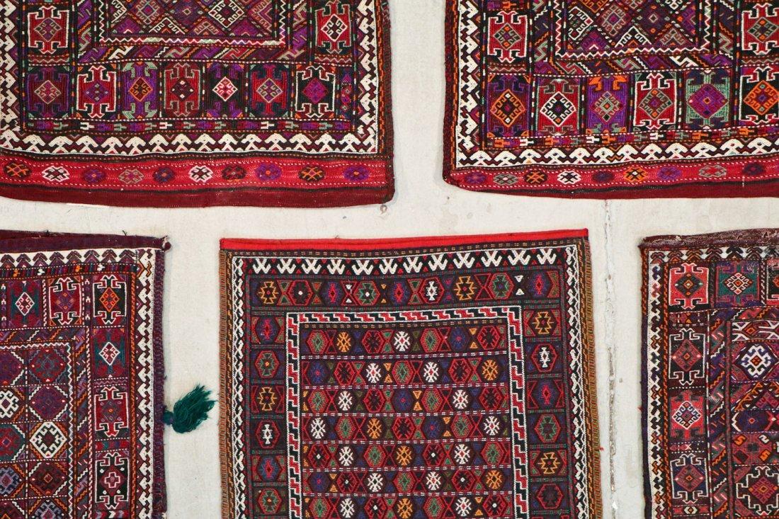 5 Semi-Antique & Vintage Persian Sumak Rugs - 4