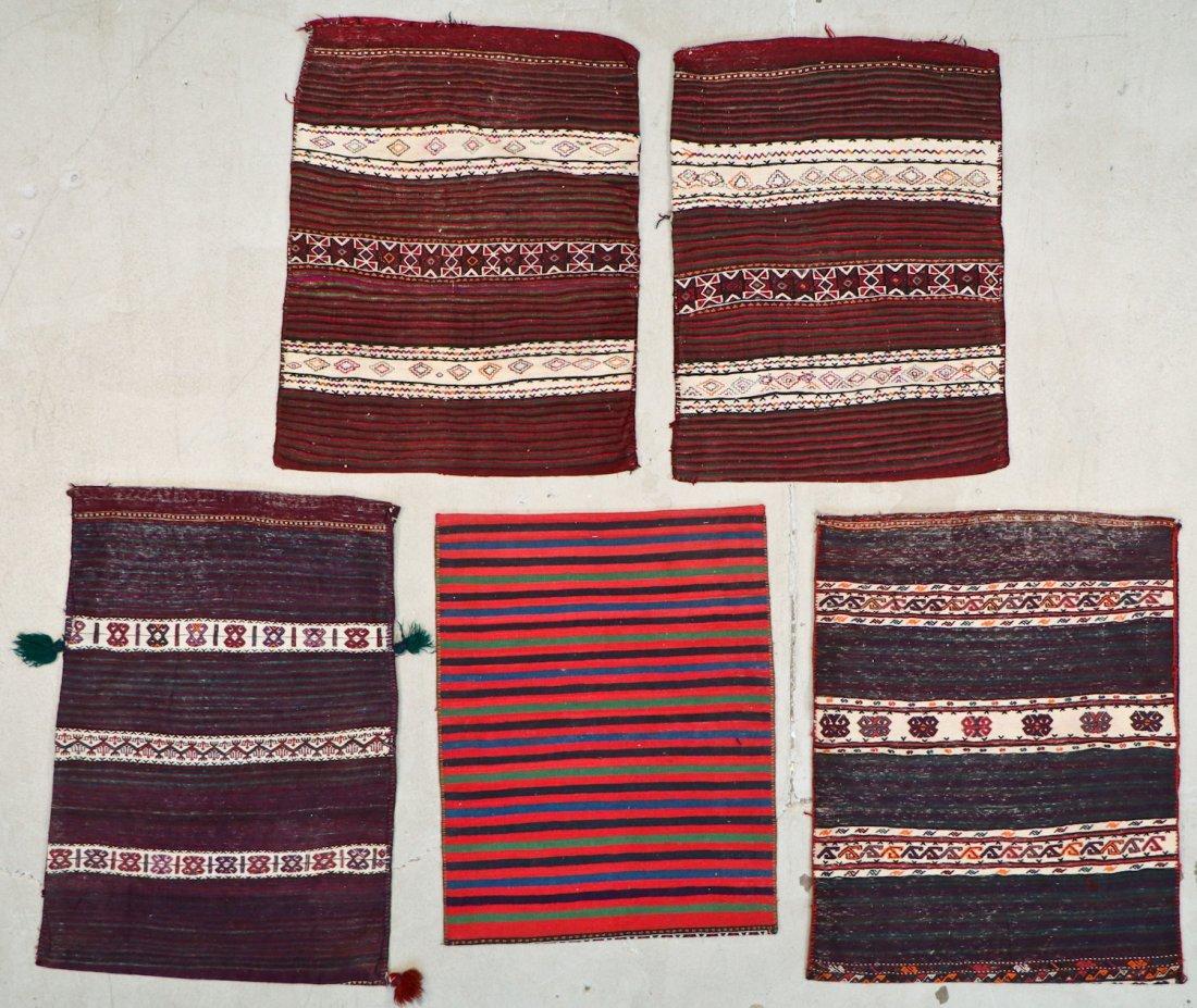 5 Semi-Antique & Vintage Persian Sumak Rugs - 7
