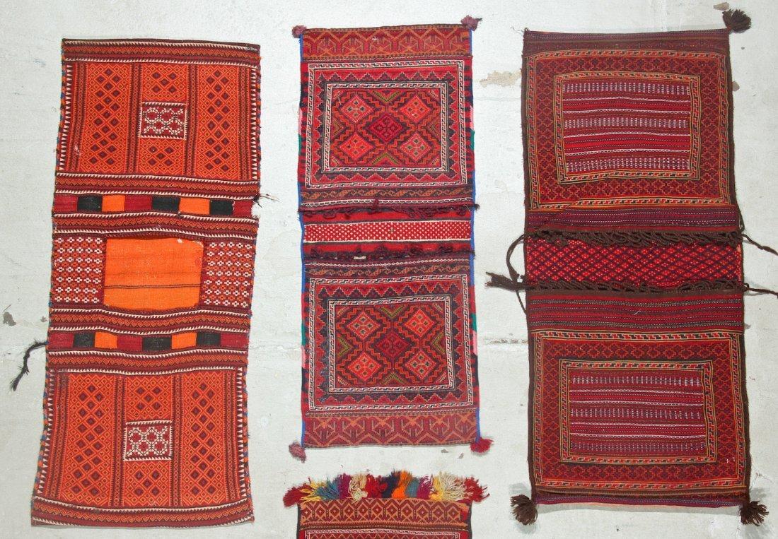 6 Semi-Antique Central Asian Saddlebags - 2