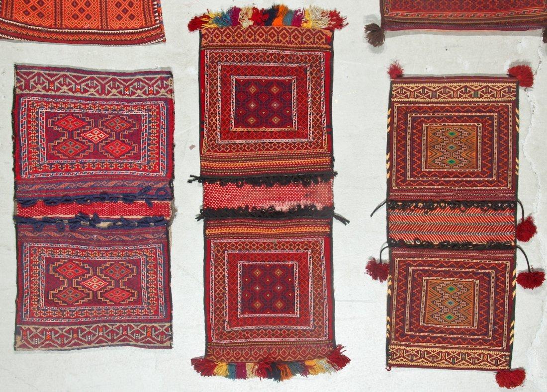 6 Semi-Antique Central Asian Saddlebags - 3