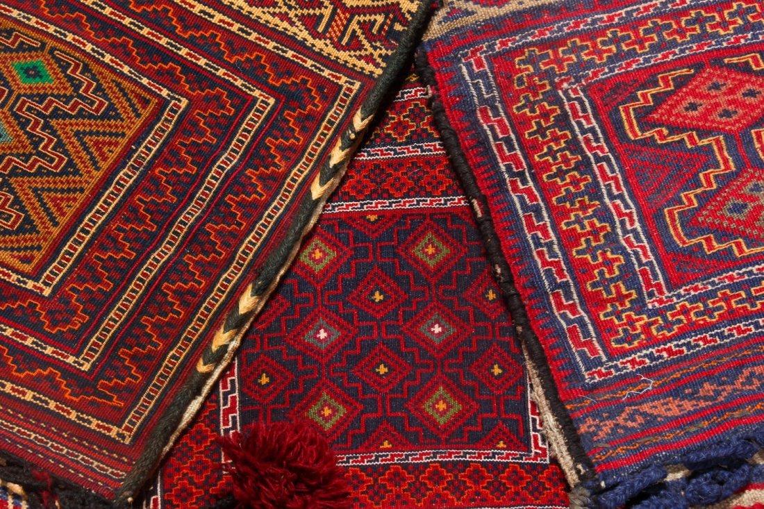 6 Semi-Antique Central Asian Saddlebags - 4