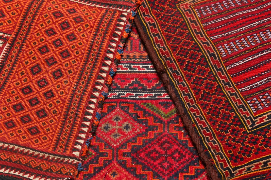 6 Semi-Antique Central Asian Saddlebags - 5