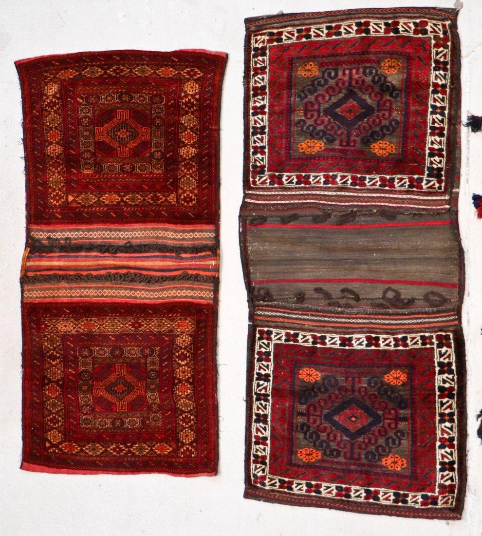 5 Vintage Central Asian & Afghan Beluch Saddlebags - 2