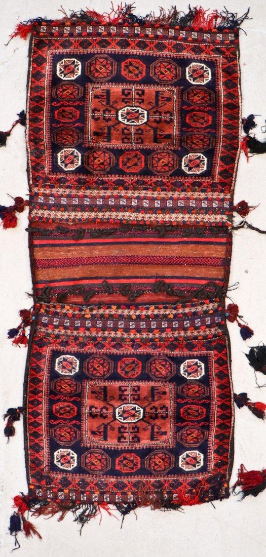 5 Vintage Central Asian & Afghan Beluch Saddlebags - 3