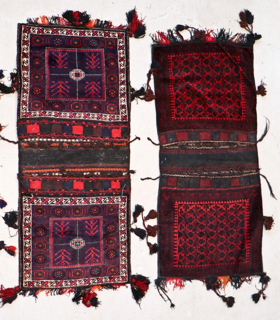 5 Vintage Central Asian & Afghan Beluch Saddlebags - 4