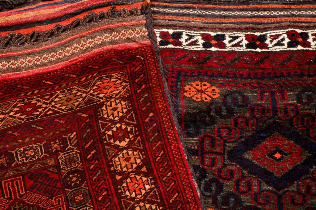 5 Vintage Central Asian & Afghan Beluch Saddlebags - 5