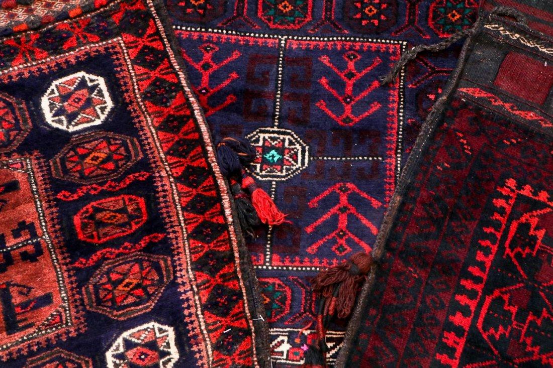 5 Vintage Central Asian & Afghan Beluch Saddlebags - 6