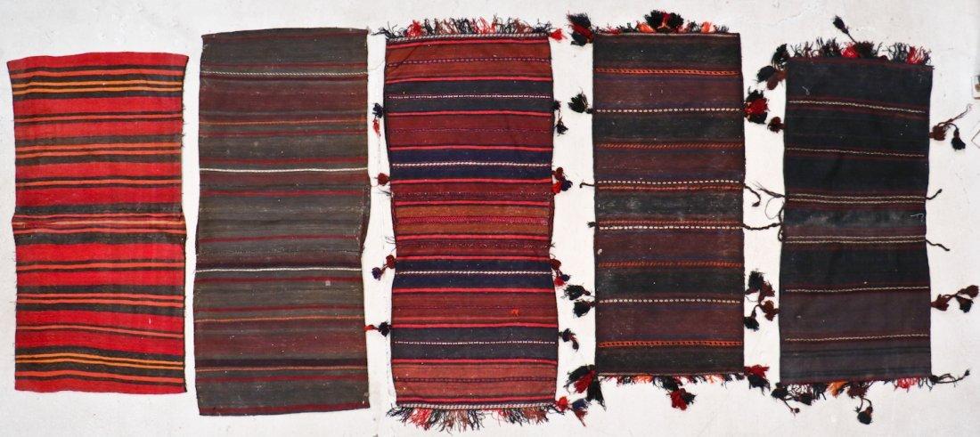 5 Vintage Central Asian & Afghan Beluch Saddlebags - 7